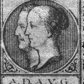 Gedenkmarke für Ferdinand Lassalle und seine Mäzenin Gräfin Sophie von Hatzfeld.