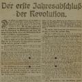 SPD-Flugblatt zum ersten Jahrestag der Novemberrevolution.