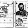 Tschechischer Reisepass von Otto Wels.