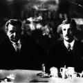 Otto Wels und der Vorsitzende der SPD-Reichstagsfraktion Rudolf Breitscheid beim Kaffee.