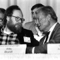 Wolfgang Thierse bei seiner Wahl zum Vorsitzenden der Ost-SPD im Juni 1990.