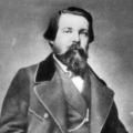 Einer der beiden geistigen Urväter des Sozialismus trägt vollen Bart: Friedrich Engels um 1860, …