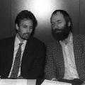 Die jungen Politiker, hier Stefan Hilsberg im Februar 1990 an der Seite Meckels, müssen sich schnell im Politikbetrieb zurechtfinden.