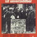 """Die IG Metall gedenkt 1978 ihrer Tradition: Plakat zur Erinnerung an die erste große Streikbewegung von 1889 und den Kampf gegen das """"Sozialistengesetz"""" Bismarcks."""