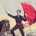 Ein Nachdruck um 1990 zeigt eine abgewandelte Version der Fahne und stellt sich in die Tradition der Kämpfe Ferdinand Lassalles für Freiheit und Menschenrechte.<br> Bildrechte: AdsD