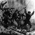 In Frankreich bildet sich 1871die Pariser Kommune, die für die Durchsetzung einer sozialistisch geprägten Verwaltung von Paris kämpft.