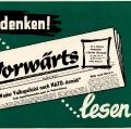 """Werbung für den """"Vorwärts""""."""