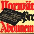 """Der """"Vorwärts"""" wirbt für Probe-Abonnements (undatiert)."""