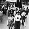 """Drucker des """"Vorwärts"""" bei der Maidemonstration 1925."""
