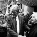 """20 Jahre später kehrt am 4. März 1990 Willy Brandt in den """"Erfurter Hof"""" zurück, am heutigen Willy-Brandt-Platz."""