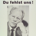 Zum Gedenken an Willy Brandt, Plakat 1992.