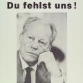 Zum Gedenken an Willy Brandt, Plakat 1992. Bildrechte: AdsD