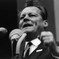 Der eloquente Redner Brandt auf dem Deutschlandtreffen der SPD in Hamburg 1963.