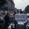 Bundestagswahlkampf + Willy Brandt in Hattingen + SPD-MdB Wilhelm Michels. SPD-Kanzlerkandidat Willy Brandt + 09.1965