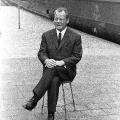 SPIEGEL-Interview 1969 auf dem Bahnsteig in Münster. Bildrechte: AdsD