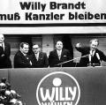 Zwei Tage vor der Wahl: Willy Brandt auf einer SPD-Kundgebung in Gelsenkirchen.