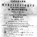 """Der """"Arbeitertag"""" wird 1867 in Braunschweig mit kulturellem Programm gefeiert."""