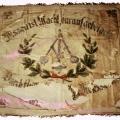 """""""Wissen ist Macht, darauf gebet acht"""": Fahne des Ortsvereins Laar der Maschinenbau- und Metallarbeiter von 1893."""