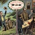 Diese Postkarte von 1905 betont die Bedeutung der Bildung für die Jugend.