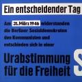 """… und dieses SPD-Plakat zum 20-jährigen Gedenken betont das Votum der Urabstimmung als eins """"für die Freiheit"""".<br> Bildrechte: AdsD"""