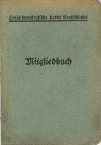 1907 führt die SPD einheitliche Mitgliedsbücher ein (Exemplar von 1909). Bildrechte: AdsD