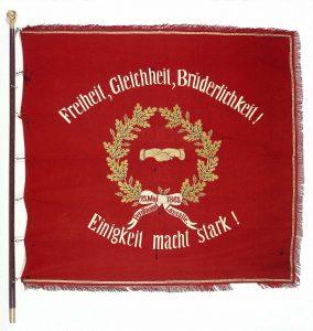 Die sozialdemokratische Traditionsfahne wurde 1873 geweiht und avancierte zu einem der wichtigsten Symbole der Sozialdemokratie... Bildrechte: AdsD