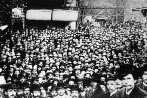 Der Beginn einer langen Tradition: Maifeier in Dresden am 1. Mai 1890. Bildrechte: unbekannt