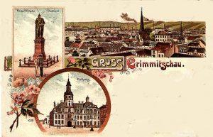 Die Postkarten-Idylle von Crimmitschau um 1900 mit seiner industriellen Moderne und städtischem Leben trügt… (Bildrechte: unbekannt)