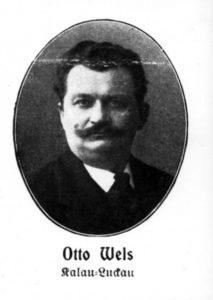 Zum ersten Mal Mitglied des Reichstags: Otto Wels im Jahr 1912. Bildrechte: AdsD