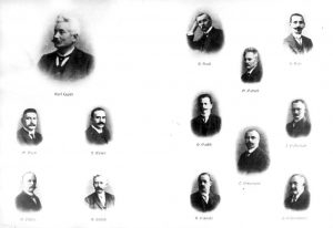 Eintreten für die Rechte der Arbeiterschaft: Gewerkschaftsfunktionäre mit Gustav Bauer (linke Seite, Mitte) um 1910. Bildrechte: AdsD