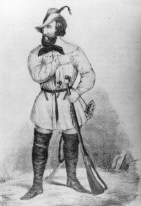 Mit Bart und Heckerhut für die Revolution: Friedrich Hecker, der Führer des Aufstands in Baden 1848. Bildrechte: frei