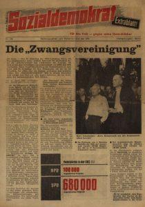 Als sich die SDP gründet, sind mehr als 43 Jahre seit der Zwangsvereinigung von SPD und KPD zur SED vergangen. Bildrechte: AdsD